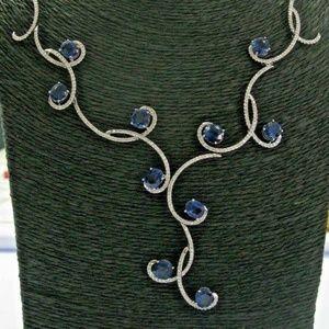 Jewelry - 18Kt Natural Madagascar Sapphire & Diamond Solid W